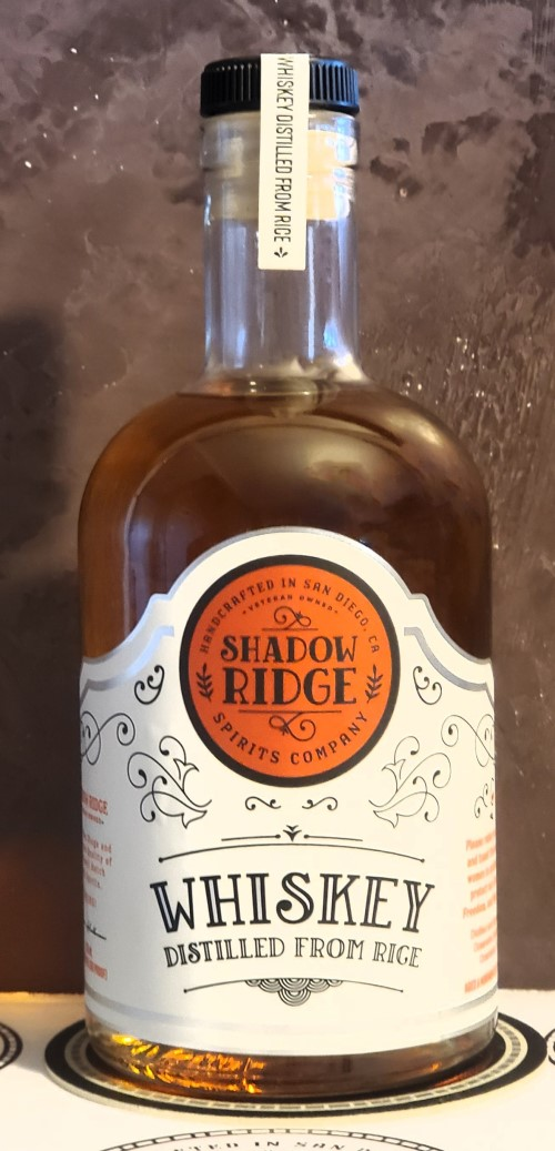 ****Special Release****   Shadow Ridge Spirits Company Whiskey Distilled From Rice