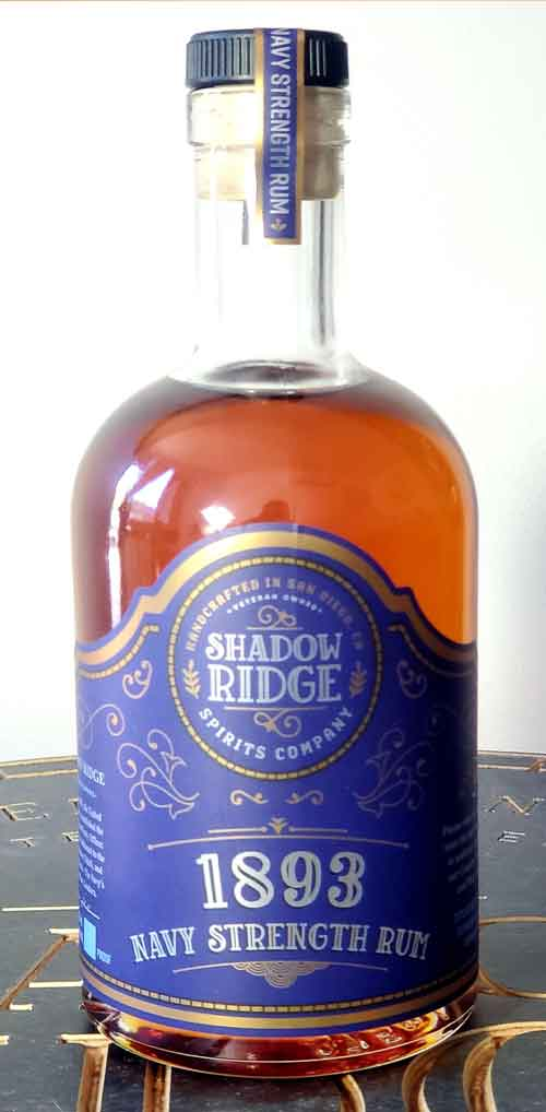 ****Limited Special Release**** Shadow Ridge Spirits Company 1893 Navy Strength Rum
